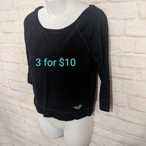 Hollister quarter sleeve top xs
